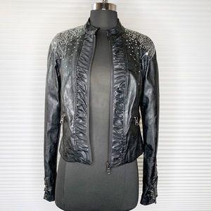 BKE Buckle Black Bling Studded Jacket Sz Small